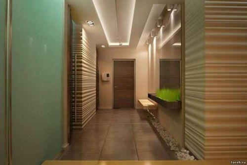 Дизайн потолка коридора в квартирах - различные варианты