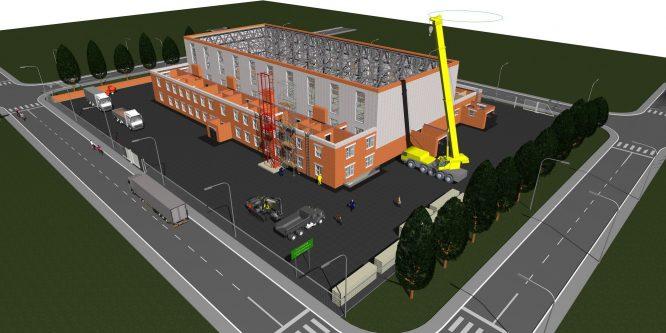 Первые этапы организации строительной площадки