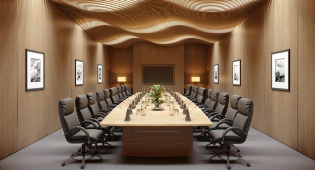 Правильное оформление переговорной комнаты